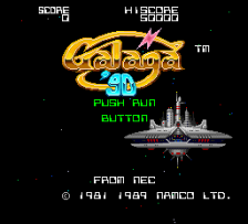 Galaga '90 title screenshot