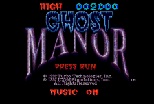Ghost Manor title screenshot