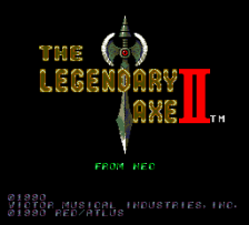 Legendary Axe II, The title screenshot