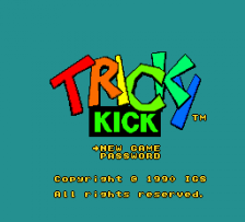 Tricky Kick title screenshot