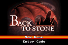 Back to Stone title screenshot