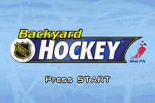 Backyard Hockey title screenshot