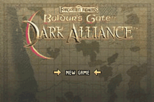 Baldur's Gate - Dark Alliance title screenshot