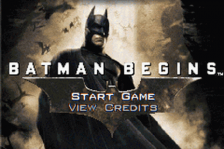 Batman Begins title screenshot