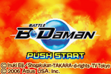 Battle B-Daman title screenshot