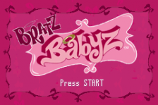 Bratz - Babyz title screenshot