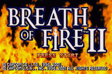 Breath of Fire II title screenshot
