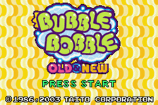 Bubble Bobble - Old & New title screenshot