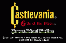 Castlevania - Circle of the Moon title screenshot