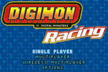 Digimon Racing title screenshot