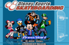 Disney Sports - Skateboarding title screenshot