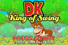 DK - King of Swing title screenshot