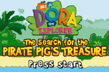 Dora the Explorer - The Search for the Pirate Pig's Treasure title screenshot