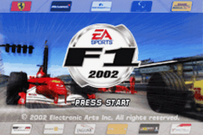 F1 2002 title screenshot
