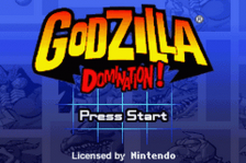 Godzilla - Domination! title screenshot