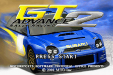 GT Advance 2 - Rally Racing title screenshot