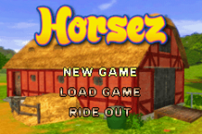 Horsez title screenshot