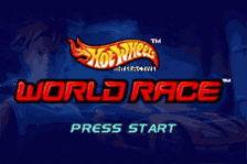 Hot Wheels - World Race title screenshot