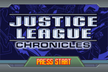 Justice League Chronicles title screenshot