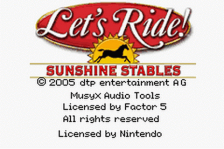 Let's Ride! - Sunshine Stables title screenshot