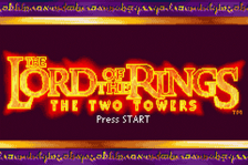 Lord of the Rings, The - The Two Towers title screenshot