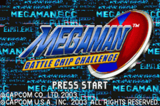 Mega Man Battle Chip Challenge title screenshot