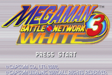 Mega Man Battle Network 3 - White Version title screenshot