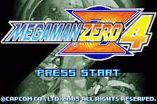 Mega Man Zero 4 title screenshot