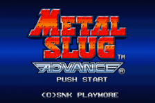 Metal Slug Advance title screenshot