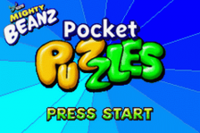 Mighty Beanz Pocket Puzzles title screenshot