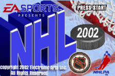 NHL 2002 title screenshot