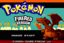 Pokemon - Fire Red Version title screenshot