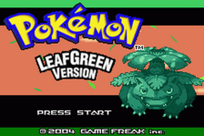 Pokemon - Leaf Green Version title screenshot
