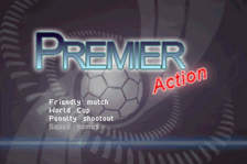Premier Action Soccer title screenshot