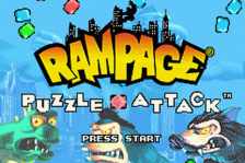 Rampage - Puzzle Attack title screenshot