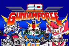 SD Gundam Force title screenshot