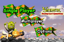 Shrek - Swamp Kart Speedway title screenshot