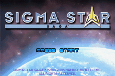 Sigma Star Saga title screenshot
