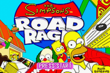 Simpsons, The - Road Rage title screenshot
