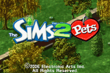 Sims 2, The - Pets title screenshot
