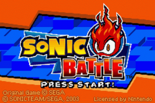 Sonic Battle title screenshot