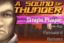 Sound of Thunder, A title screenshot