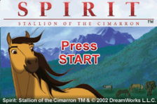 Spirit - Stallion of the Cimarron - Search for Homeland title screenshot