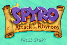 Spyro - Attack of the Rhynocs title screenshot