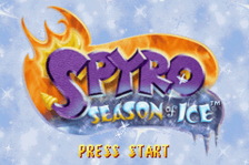 Spyro - Season of Ice title screenshot