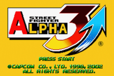 Street Fighter Alpha 3 title screenshot