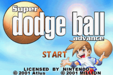 Super Dodge Ball Advance title screenshot