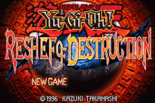 Yu-Gi-Oh! - Reshef of Destruction title screenshot