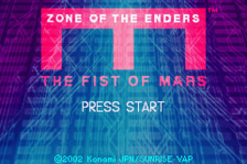 Zone of the Enders - The Fist of Mars title screenshot