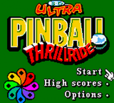 3-D Ultra Pinball - Thrillride title screenshot